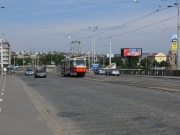 Auf der Hlávka-Brücke (Hlávkův most)