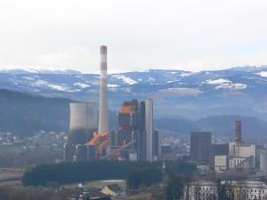 aufgenommen 20.01.2011 von der Burgruine Obervoitsberg aus. Hier ist noch der gesamte Komplex zu sehen.
